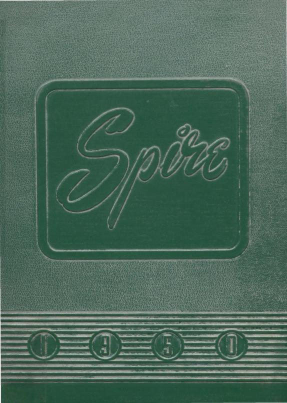 Cover of Illiana Christian's yearbook the Spire, 1950.