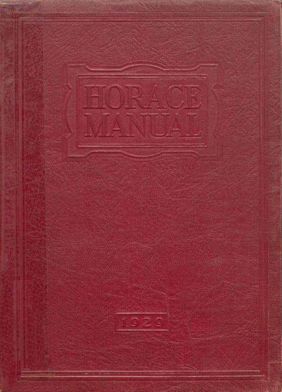 Horace Mann High School's yearbook, Horace Manual