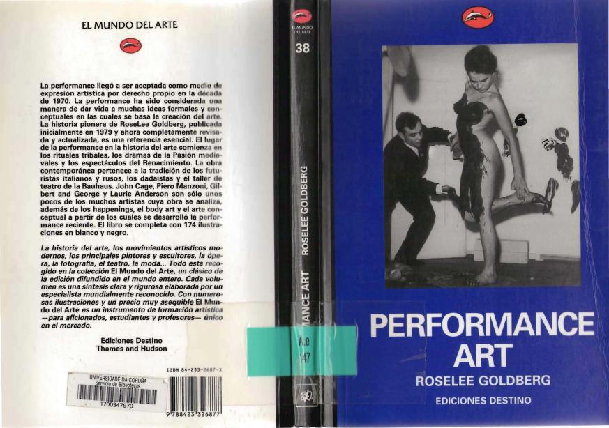 Performance Art by Roselee Goldberg